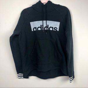 Adidas black hoodie Xl thumb holes